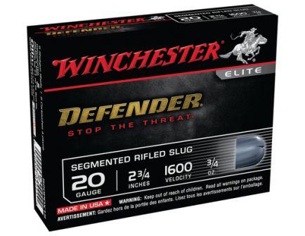 """Winchester 20ga 2.75"""" Segmented Slug 5rds - S20PDX1S"""