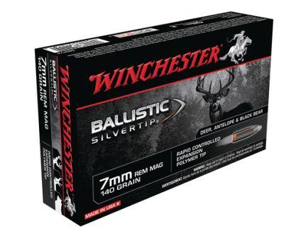Winchester 7mm Rem Magnum 140gr Ballistic SilverTip Rifle Ammunition 20rds -  SBST7A