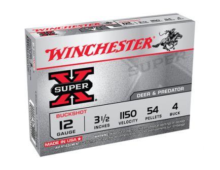 "Winchester 12ga 3.5"" Magnum 4 Buck Super-x Ammunition 5rds - XB12L4"