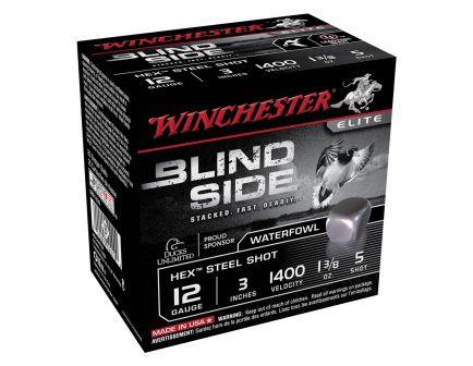 """Winchester Blind Side 3"""" 5 Shot Mag Hex Steel 12 Gauge Ammunition 25 Rounds"""
