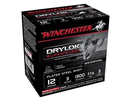 "Winchester Drylok Super Steel Magnum 3"" 1 3/8 oz 3 Shot 12 Gauge Ammunition 25 Rounds"
