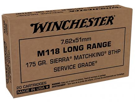 Winchester M118 Long Range 7.62x51MM Ammo