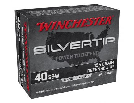 Winchester Silver Tip 155 gr JHP .40 S&W Ammunition 20 Rounds