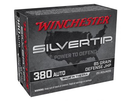 Winchester Silver Tip 85 gr JHP .380 ACP Ammunition 20 Rounds