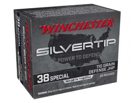 Winchester Silvertip 110 gr JHP .38 Special Ammunition 20 Rounds