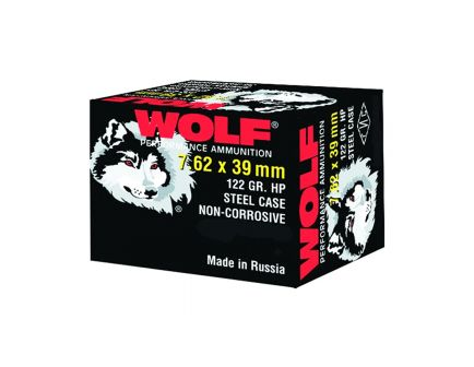 Wolf 7.62X39 122 gr HP 20 Rounds Ammunition