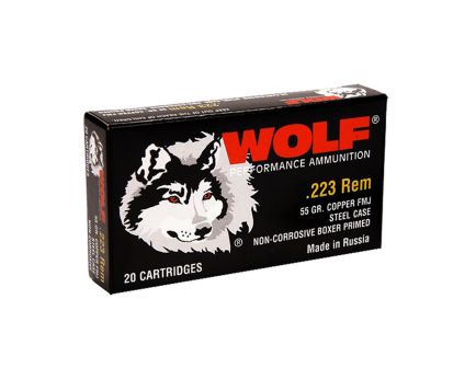 Wolf .223 55 gr FMJ 20 Rounds Ammunition - 22355