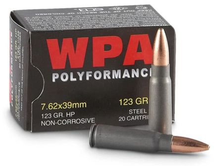Wolf 7.62x39 123gr FMJ Military Classic Ammuntion 20rds - 762BFMJ