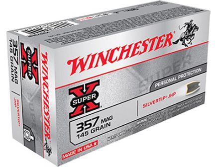 Winchester 357 Magnum 145gr SilverTip Hollow Point Ammunition 50rds - X357SHP