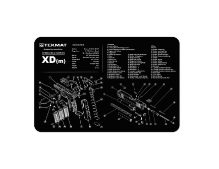 Slip 2000 - Tek Mat Gun Cleaning Mat Springfield XDm - TMAT-XDm