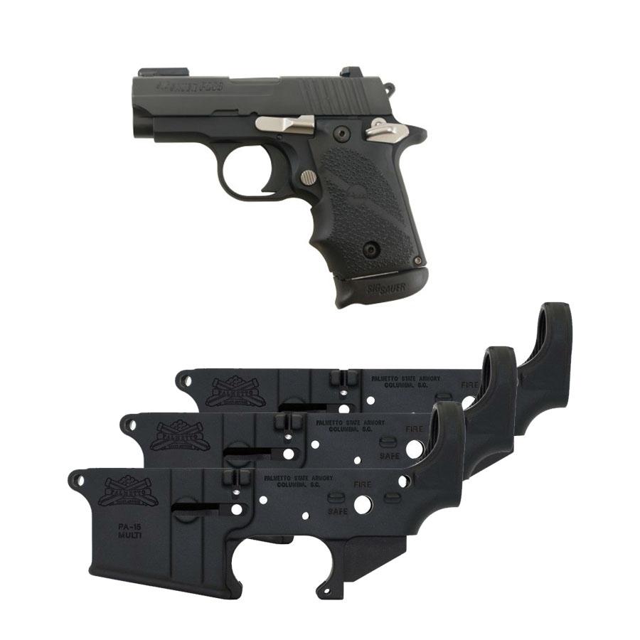 Sig Sauer P238 Sports 12 .380 ACP Pistol & Three (3) PSA AR-15 Lowers Safe/Fire